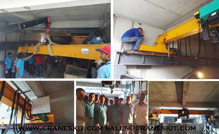 Overhead Crane Vibration : Ton single girder overhead crane and steel structure