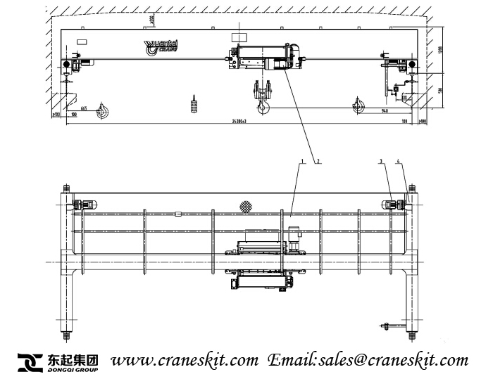 Single Girder Eot Crane Drawing : Ton single girder overhead crane installation in maldives