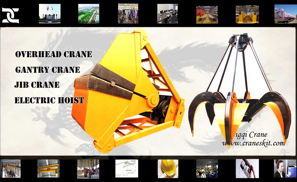 Grab Bucket Crane Bucket Amp Rope Type Grab Electric Motor Grab