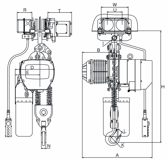 electric chain hoist drawing electric chain hoist makes your material handling efficient