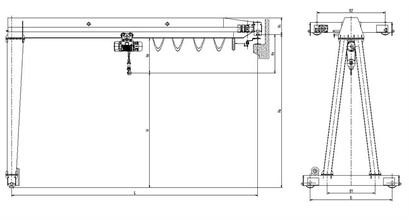 Semi-gantry Crane Drawing