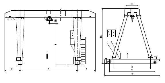 Single Girder Eot Crane Drawing : Gantry crane single girder dongqi