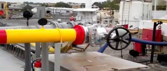 Material handling for gas and petroleum handling