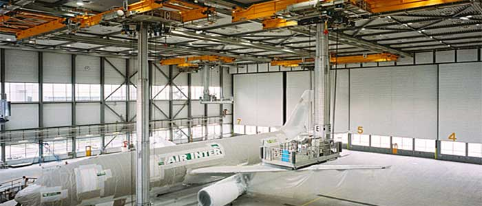 Overhead crane for aviation