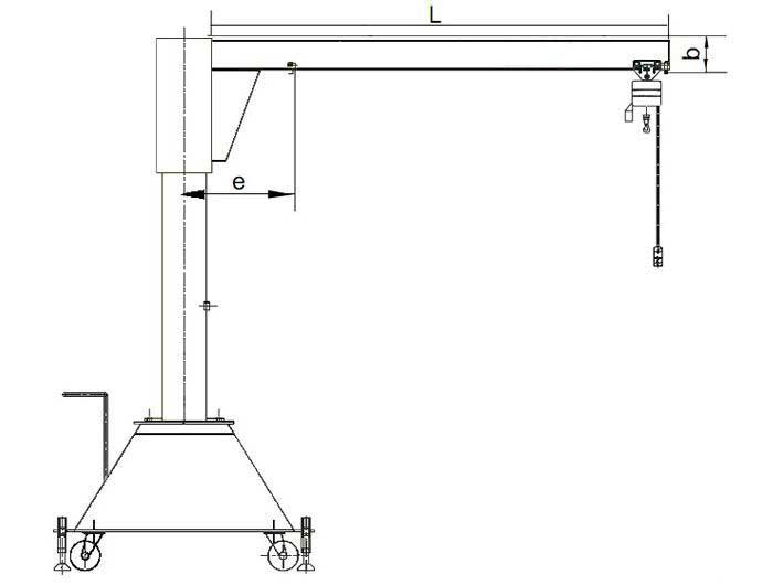 Mobile Jib Crane|Light Duty Movable Jib Crane|High-efficiency