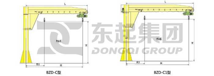 Slewing Jib Crane: Slewing Jib Crane Types| Dongqi Slewing Jib Crane