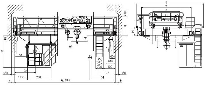 Diagram of explosion proof bridge crane