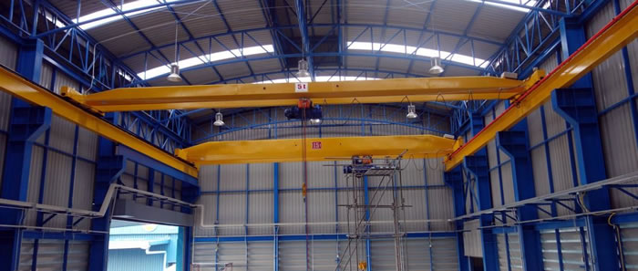 Overhead crane installation at the valve plant